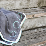 Boho Colors, Chic Hand Knit Baby Blanket