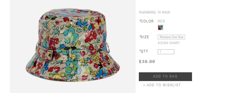 Boho Rain Hat