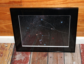 Photographic Sky Chart, a Star Named Terri