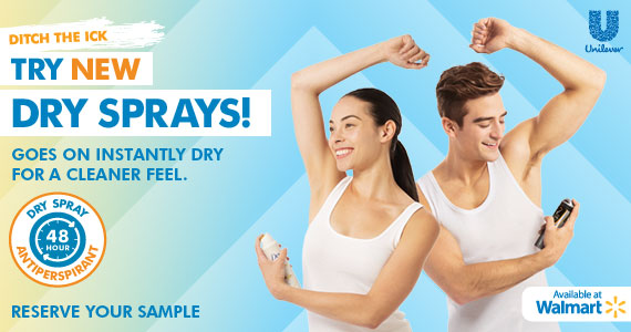 Ditch the Ick with NEW Dry Spray Antiperspirants