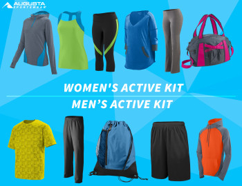 1 Male & 1 Female Winner, Fashion Fitness Active Wear and Athletic Gear, Large Active Kit Giveaway