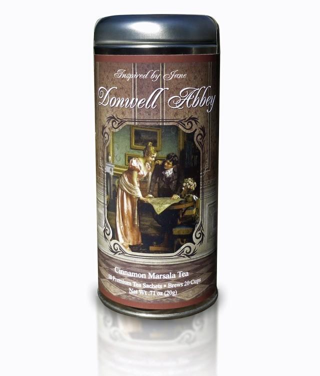 Donwell Abbey - Cinnamon Tea Infused with Marsala Wine Flavoring - Premium Tea Sachets - Jane Austen Inspired Tea Collection - Gourmet Leaf Tea Blend