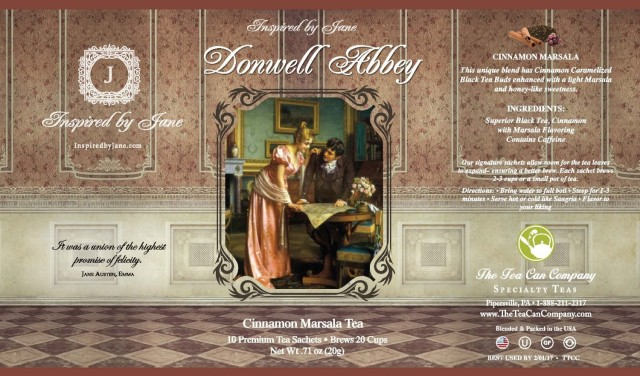 Donwell Abbey - Cinnamon Tea Infused with Marsala Wine Flavoring - Premium Tea Sachets - Jane Austen Inspired Tea Collection - Gourmet Leaf Tea Blend