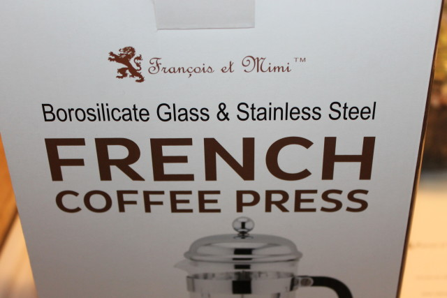 Francois et Mimi Single Wall Borosilicate Glass French Coffee Press, 50-Ounce, Chrome