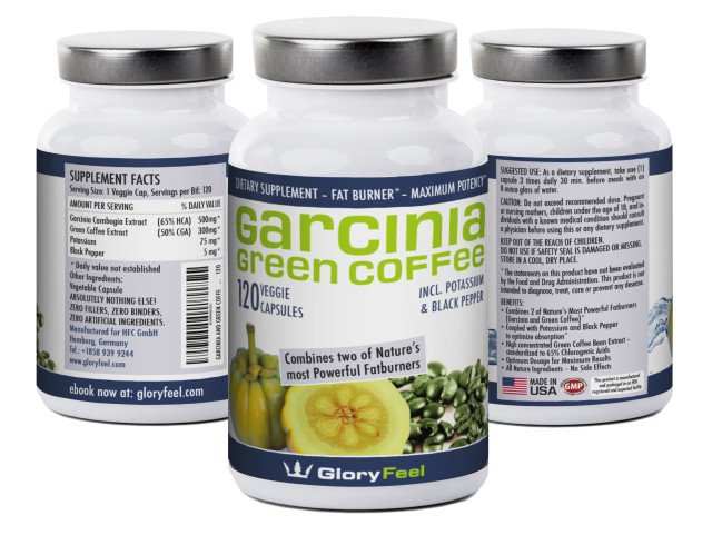 TRIPLE YOUR WEIGHT LOSS WITH GLORYFEEL'S UNIQUE WEIGHT LOSS FORMULA.1) Pure Garcinia Cambogia Extract high concentrated with 65% HGA is the crucial primary ingredient for maximum weight loss.