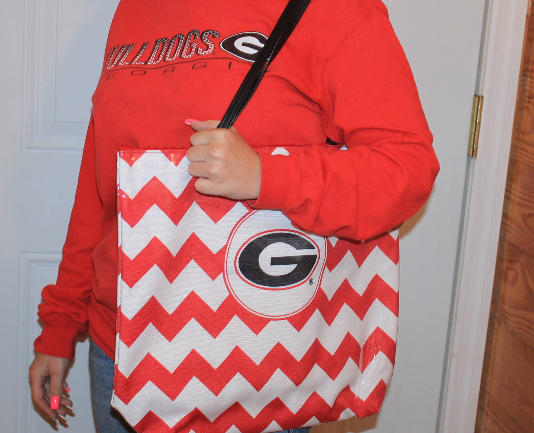 Chevron Shopper Tote Giveaway #freedesdentote