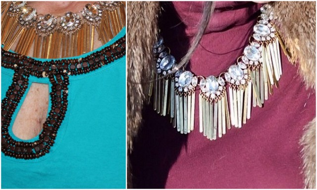Bombshell fringe necklace
