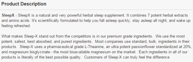 Sleep-X | Natural Sleep Supplement #SleepX