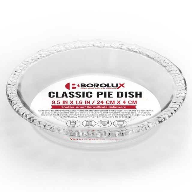 Shatter-Proof Borosilicate Pie Pan #borolux