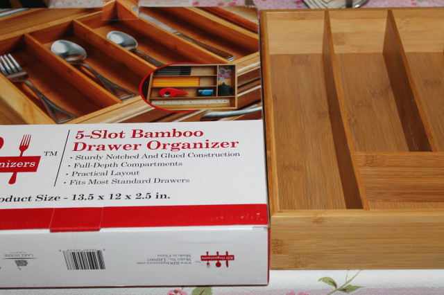 #lakehouse KD Organizers™ 5-Slot Bamboo Drawer Organizer Review