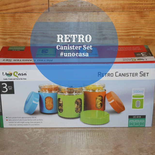 Glass, Colorful, Retro, Canister Set #unocasa #holidaygiftguide2015 @unocasaproducts