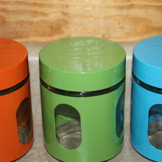 Glass, Colorful, Retro, Canister Set #unocasa #holidaygiftguide2015