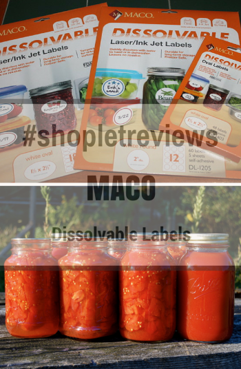 #masonjars & my Dissolvable Labels from Shoplet.com  #canningandpreserves #shopletreviews #holidaygiftguide2015