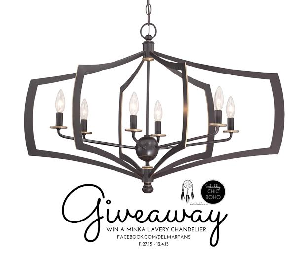 Middletown Chandelier DIY Fall Lighting Project & Giveaway 11/27 - 12/4/15