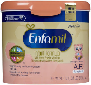 Enfamil A.R. helps spit-up problems in infants