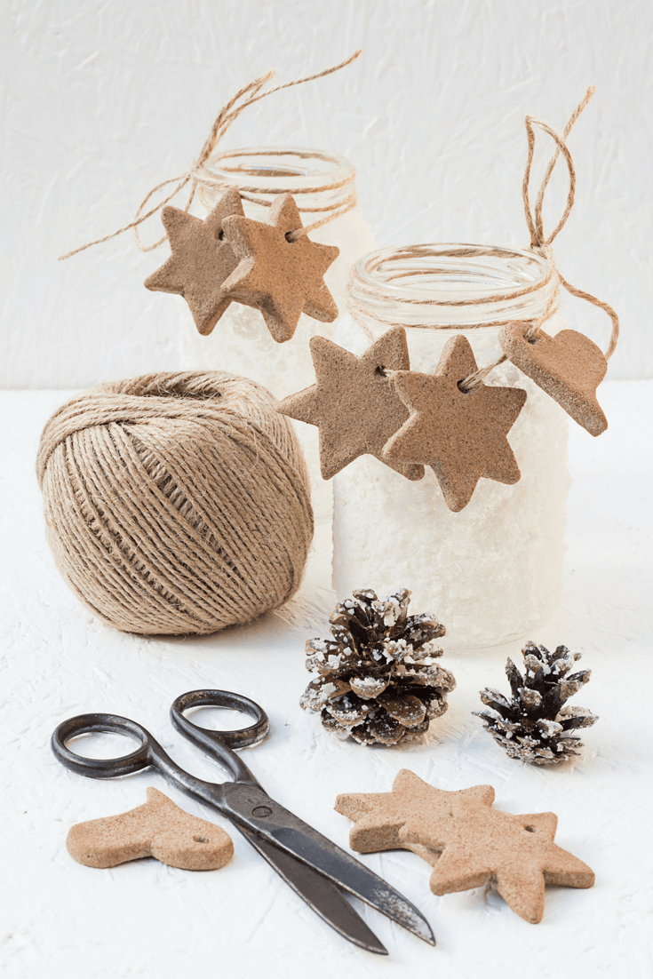 How To Make Cinnamon Applesauce Christmas Ornaments. So easy even your kids can make them.