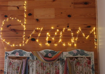 DIY how to make a wall sign using LED wire lights #Oakleaf