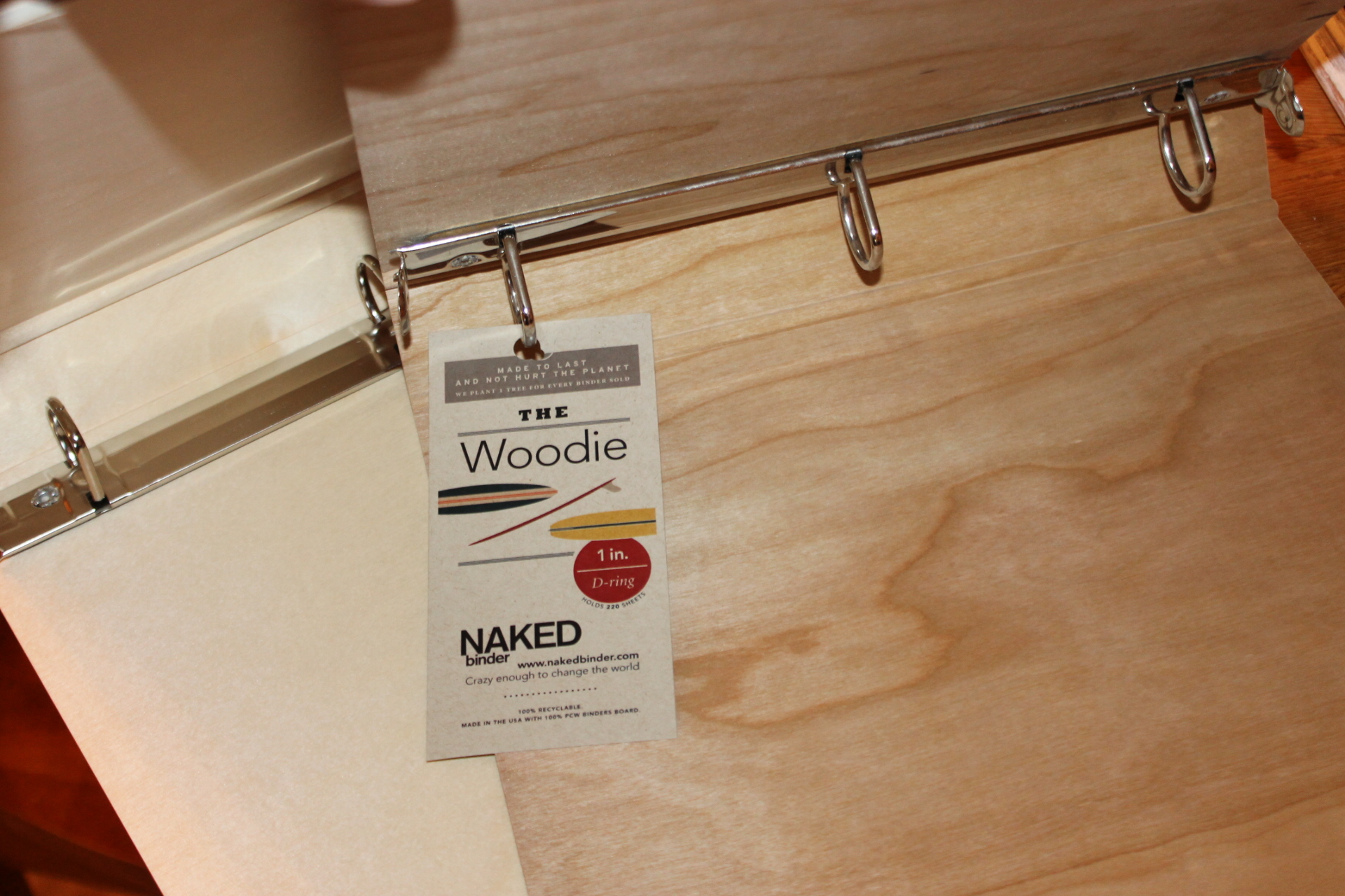 Naked Binder Woodie #woodbinder