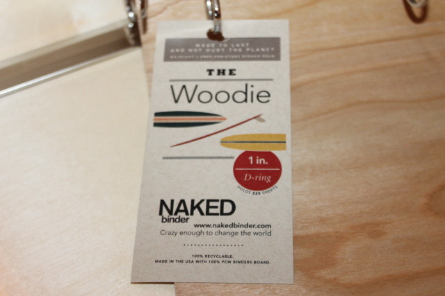 Naked Binder Woodie #woodbinder