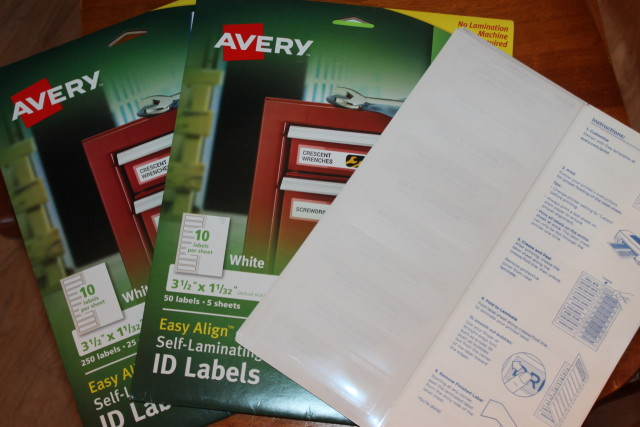 Getting Organized with Avery Labels and @Shoplet