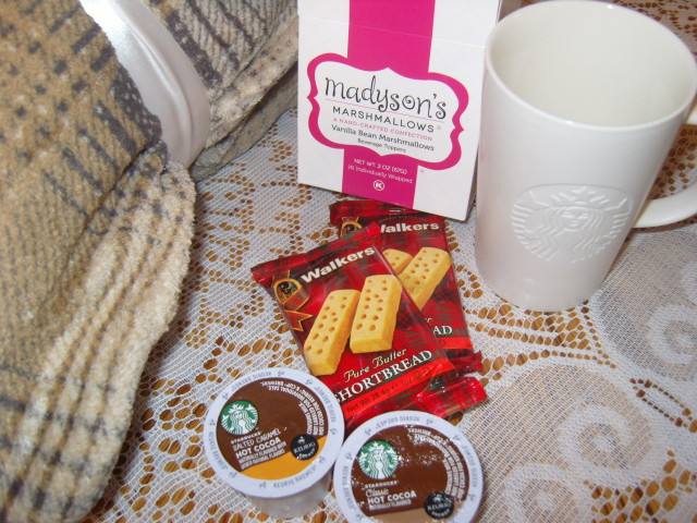 Getting cozy with the new Starbucks® Hot Cocoa K-Cup® pods #KCup #HotCocoa, #IC (ad)  PLUS enter to win a Starbucks Cozy Collection