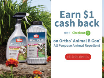 Save $1.00 on Animal B Gone with Checkout 51. Love Your Yard Again