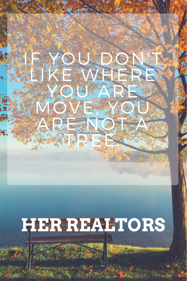 If You Don't Like Where You Are, Move, You Are Not a Tree