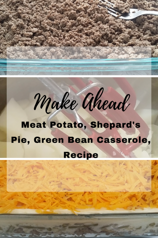 Meat Potato, Shepard's Pie, Green Bean Casserole, Recipe