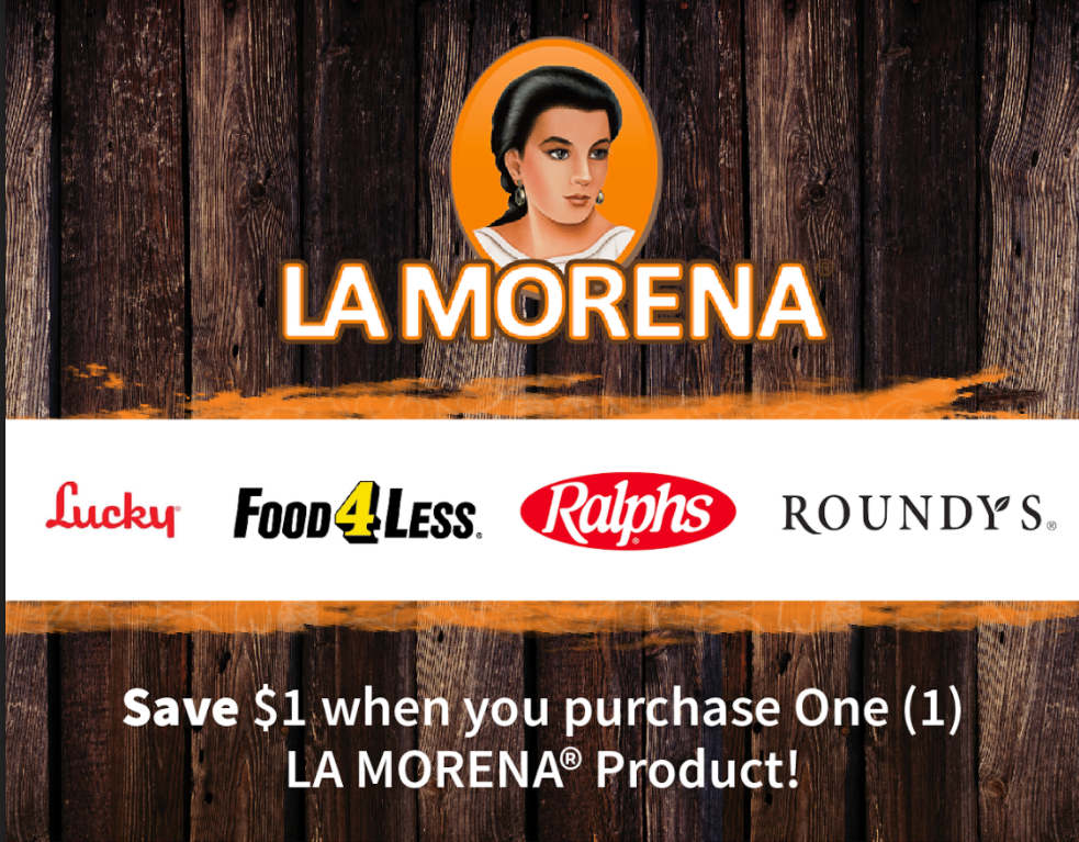 Save on any LA MORENA® product