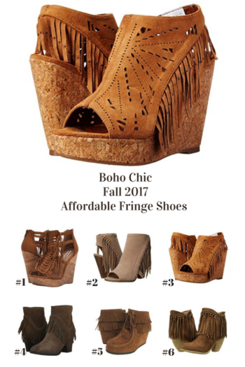 6 Trendy Boho Chic Fringe Shoes for Fall 2017