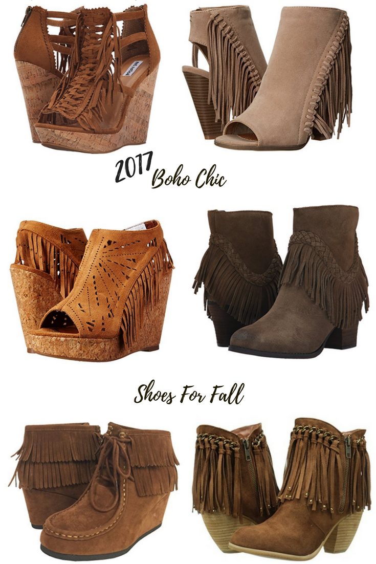 6 Trendy Boho Chic Fringe Shoes for Fall