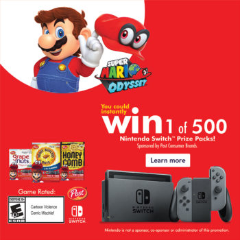 Post Nintendo Sweepstakes #PrizesWithPost #CerealAnytime #CollectiveBias #ad