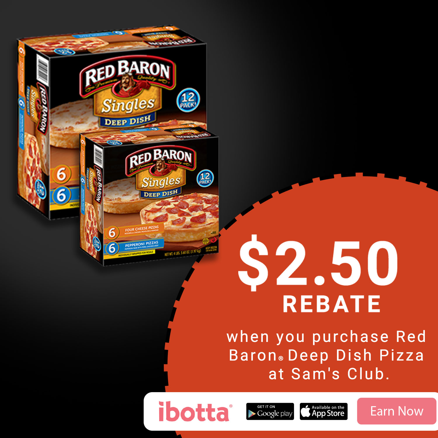 Buy Red Baron® Deep Dish Pizzas at Sam's Club, & earn $2.50! #RedBaronHolidaySavings #CollectiveBias #ad