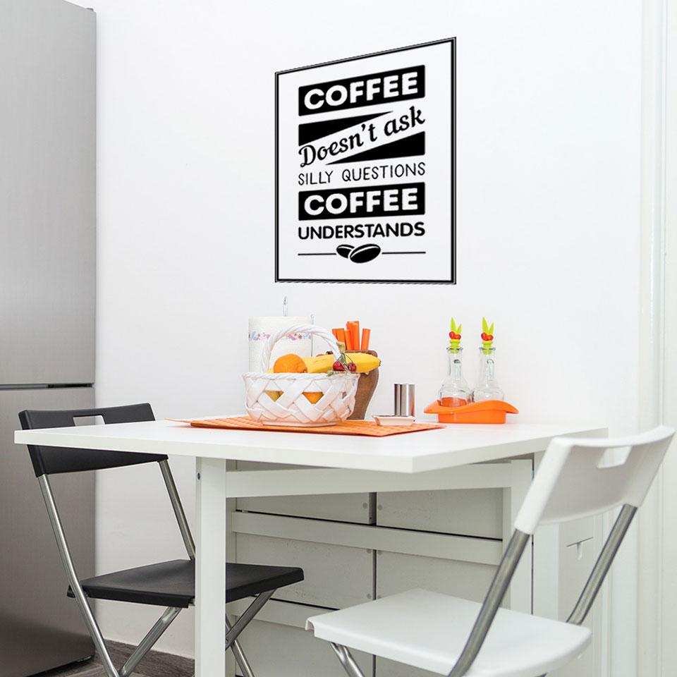Coffee – No Questions Wall Decal
