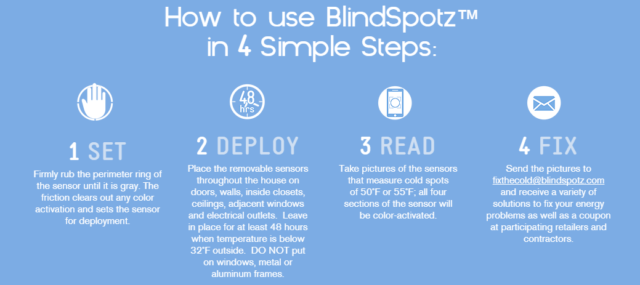 DIY Cold Sensor, BlindSpotz #Giveaway
