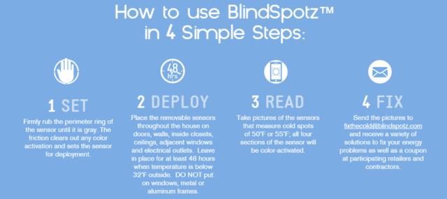 DIY Cold Sensor, BlindSpotz #Giveaway