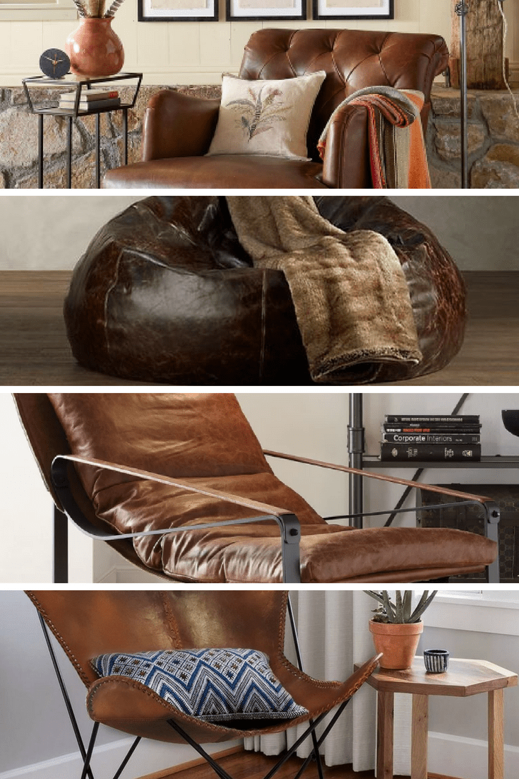 Manly Accent Leather Chairs For The Hip Bachelor, 2018
