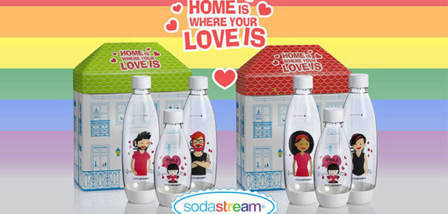SodaStream Celebrates Pride Month with 'Love is Love' Bottles