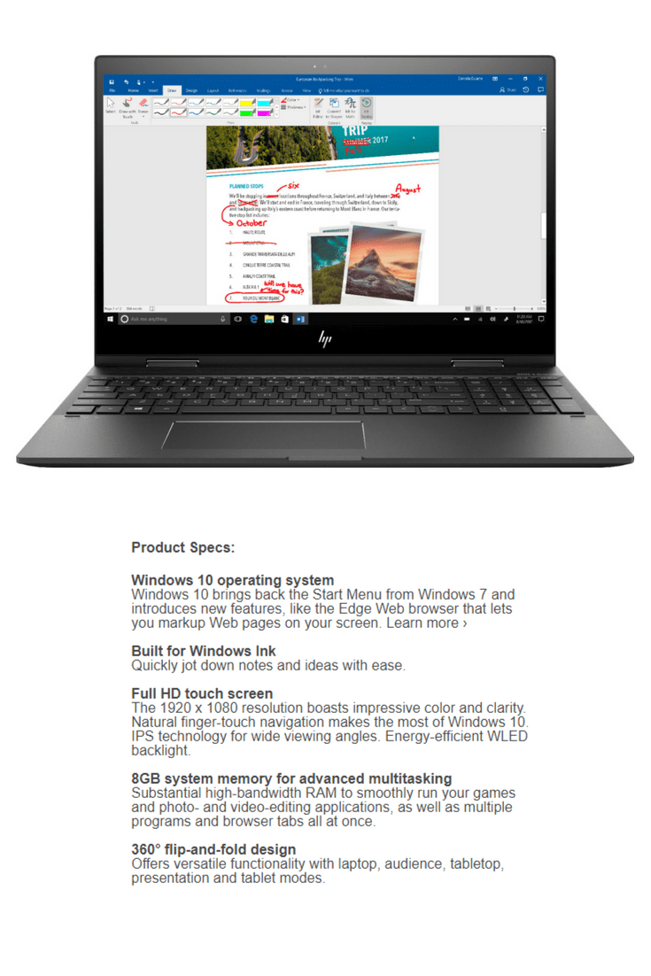 The HP Envy x360 Laptop is the MUST HAVE laptop this year $100 Off