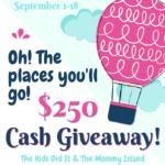 Giveaway $250 Cash