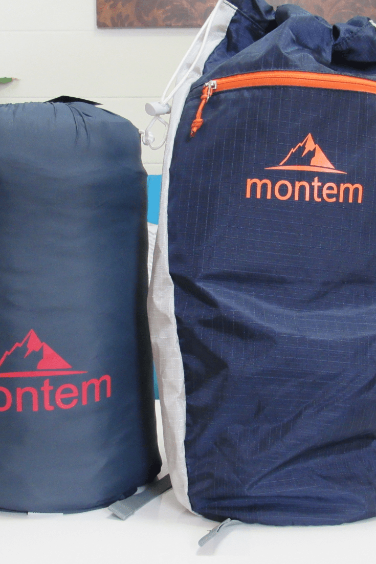 #Camping #glamping #giveaway Montem Outdoor Gear; Sneaky Snuggler Puffy Camping Blanket & a Luxe Ultra Light Packable 12L Backpack ARV $100+ #enter to #win