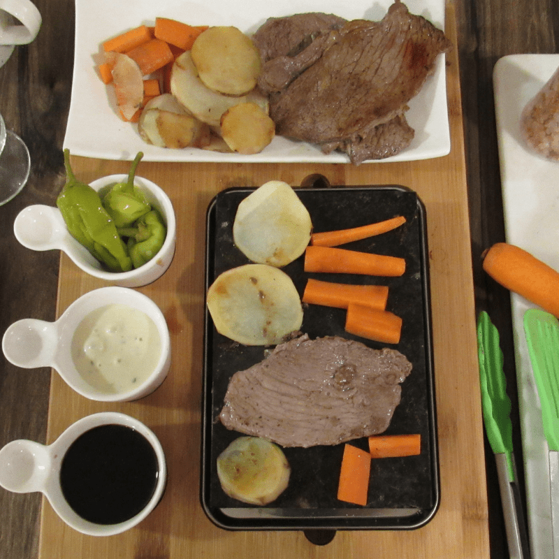 Good Cooking with my Steak Stone Deluxe Serving Set