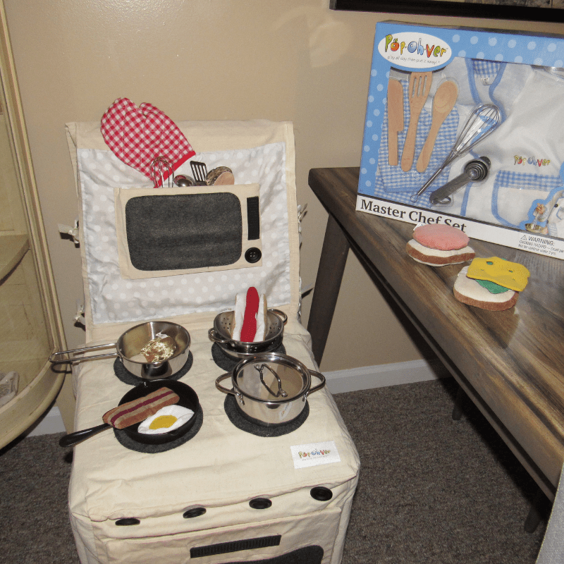 Pop Oh Ver Stove and Kitchen Counter Sets