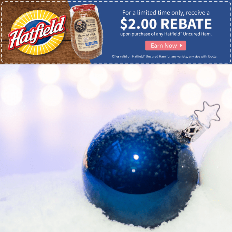 $2 Rebate on Hatfield Ham for the Holidays