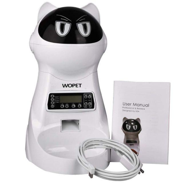 Even Chelsea loves her WOPET Automatic Cat Feeder Food Dispenser