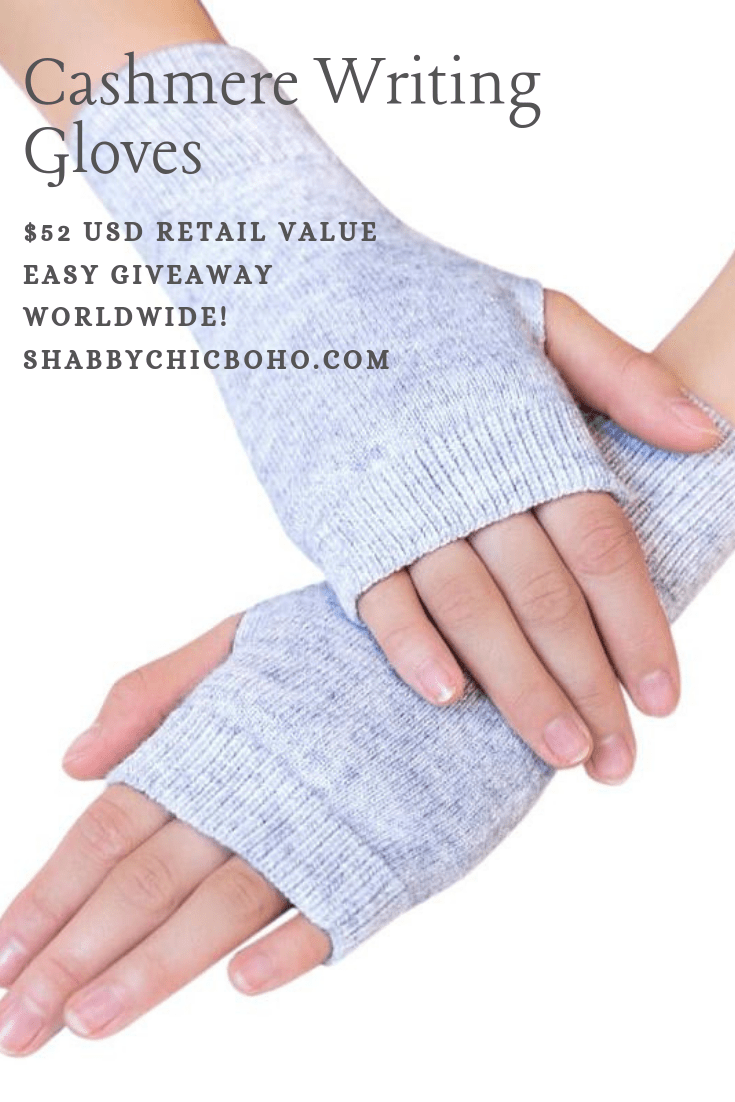 GIVEAWAY Cashmere Writing Gloves, $52 USD  Worldwide