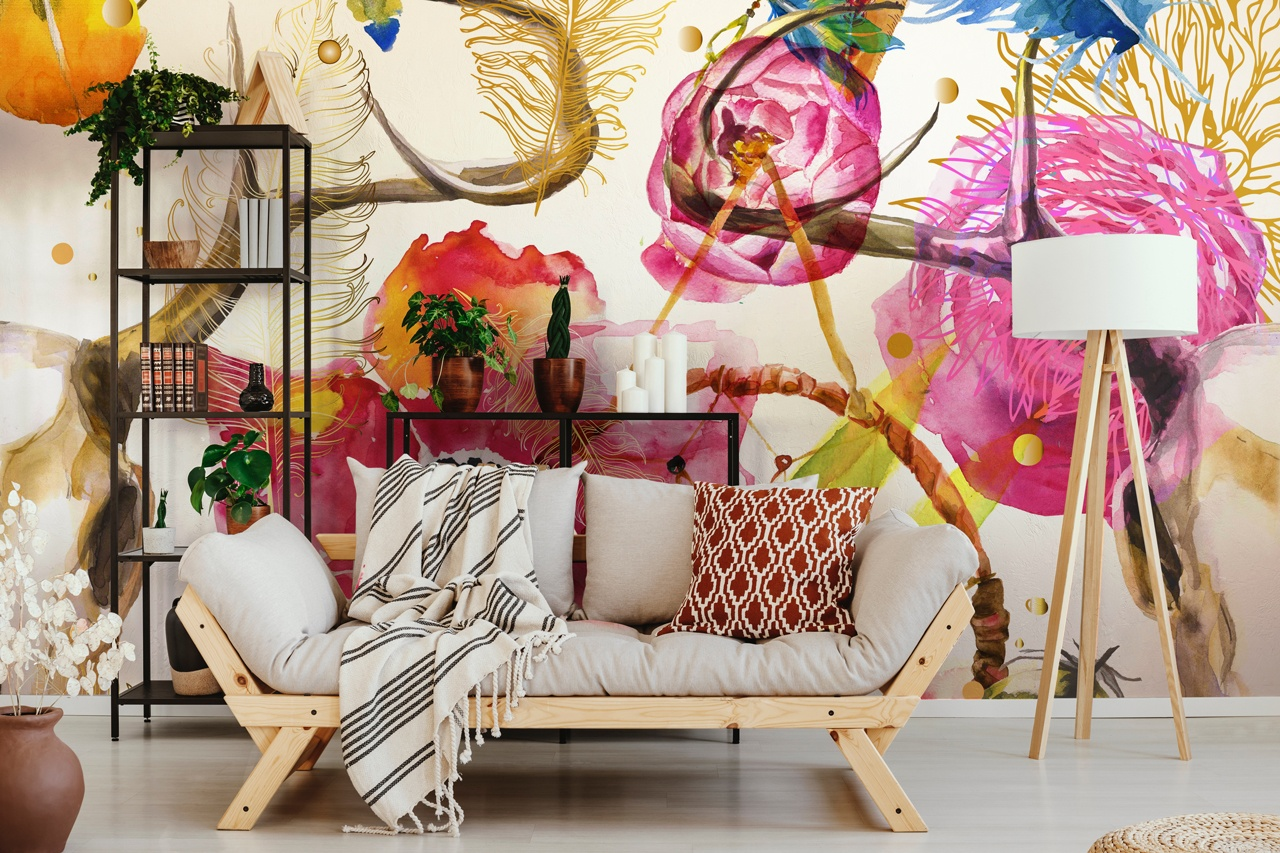 Flowers out of the vase. How to choose a great flowery mural?