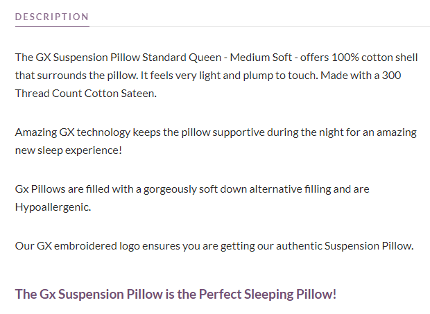 Sleeping Better With My GX Pillows