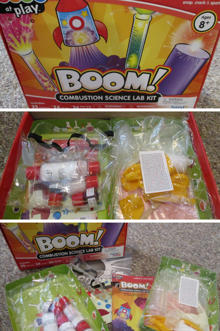 STEM at Play® BOOM! Combustion Science Lab Kit For Kids