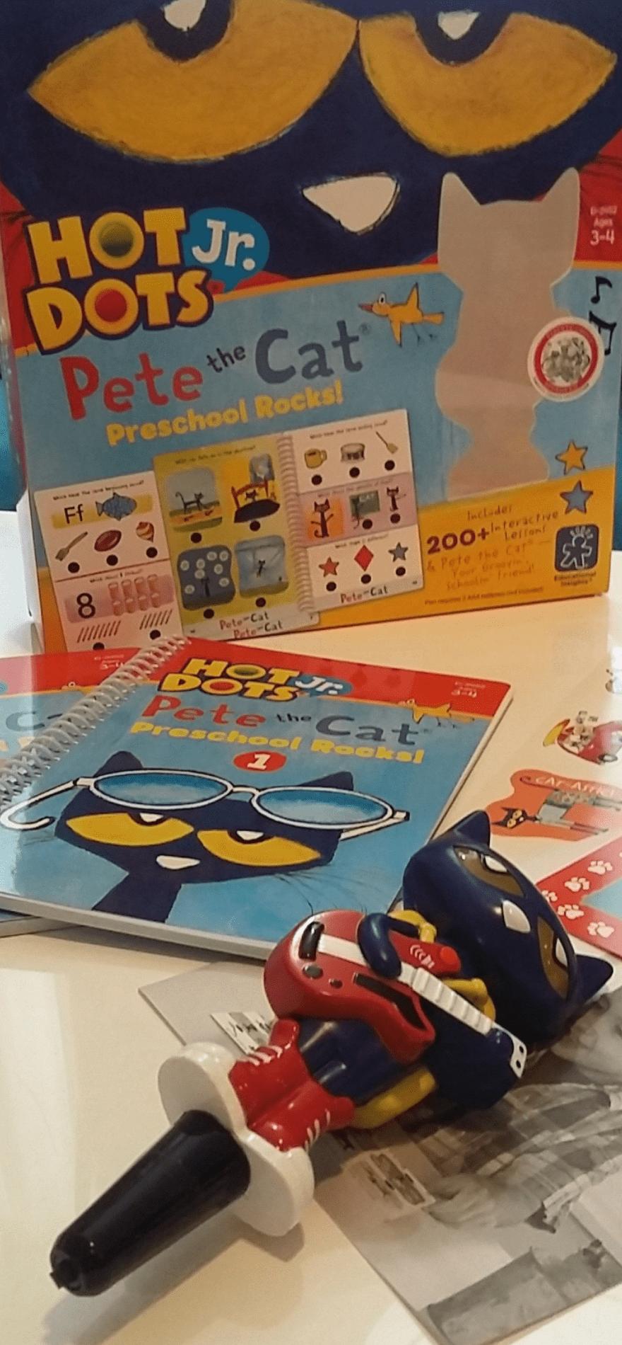 Getting Ready for Preschool With Hot Dots® Jr. Pete the Cat® Preschool Rocks! Set with Pete the Cat®—Your Groovin\', Schoolin\', Friend Pen Hot Dots® Jr. Pete the Cat® Preschool Rocks.